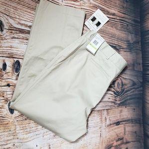 Sag Harbor Chino Dress Pants Khaki Slacks 18 W
